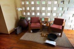 Indoor living room in the tropics Stock Photo