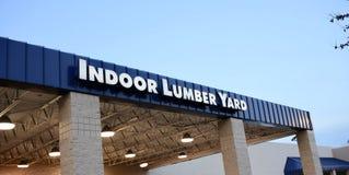 Indoor Lumber Yard Stock Image