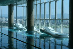 Indoor Luxury Pool Royalty Free Stock Images