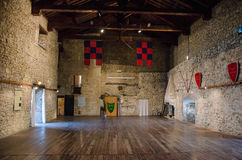 The Indoor of Malatesta fortress. Medieval indoor in Malatesta fortress Stock Photo