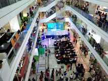 Indoor mall event. Father& x27;s day mall event at the ground floor royalty free stock photography