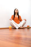 Indoor meditation Royalty Free Stock Image