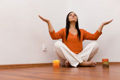 Indoor meditation Stock Photography