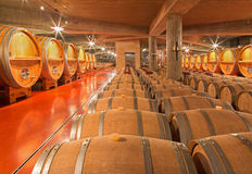 Indoor of modern wine cellar Stock Photo