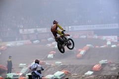Indoor motocross stock images