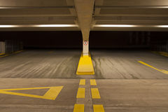 Indoor car park Royalty Free Stock Images