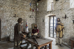 Indoor the museum in Kyrenia stock photography