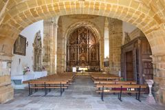 Indoor Of Church Of Ciguenza In Cantabria Royalty Free Stock Photography