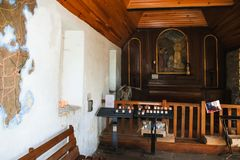 Free Indoor Of Saint-Michel Chapel On Ile-de-Brehat Royalty Free Stock Images - 108799359