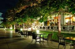 Indoor and outdoor restaurants Royalty Free Stock Image