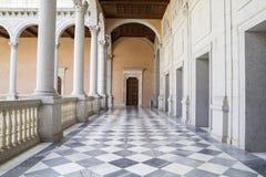 Indoor palace, Alcazar de Toledo, Spain Royalty Free Stock Images