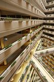 Interior of luxury hotel, Pan Pacific Singapore royalty free stock photography