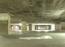 Indoor parking cars Stock Images