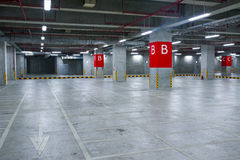 Indoor parking Royalty Free Stock Image
