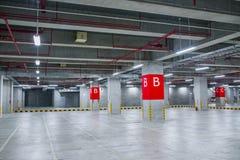 Indoor parking Stock Photo