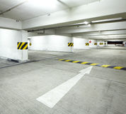 Indoor parking lot Stock Images