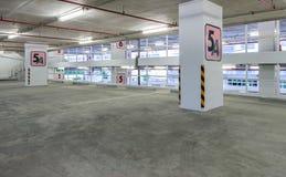Indoor parking lot Stock Image