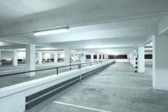 Indoor parking lot Stock Image