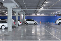 Indoor parking lot Royalty Free Stock Photography