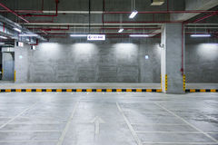 Indoor parking Stock Image