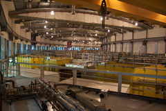 Indoor parts of small particle accelerator. Diamond, Didcot, UK Royalty Free Stock Photos