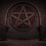 Indoor Pentagram Background Stock Photos