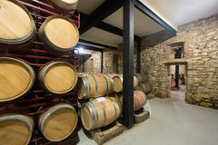 Indoor photo of old winery Stock Image
