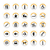 Indoor pictogram set in semicircles. Pictogram set for indoor use in semicircles Stock Photography