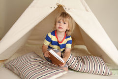Indoor Play with Teepee Tent Stock Image
