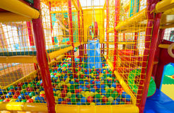 Indoor playground for children. Indoor soft playground for children Royalty Free Stock Image