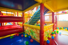 Indoor playground for children. Indoor soft playground for children Stock Photo