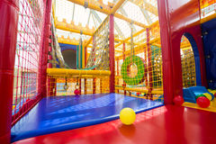 Indoor playground for children. Indoor soft playground for children Royalty Free Stock Images