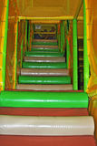 Indoor playground playthings. Colorful soft padded stairs for safety in indoor play area for kids Stock Image
