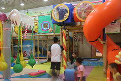 Indoor playground in SHENZHEN Shekou garden city shopping center Royalty Free Stock Image