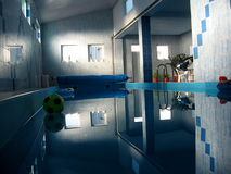 Indoor pool Stock Photography