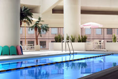 Indoor pool. Indoor swimming pool (horizontal Royalty Free Stock Image