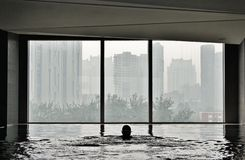 The indoor pool in the hotel EAST Beijing Stock Photography