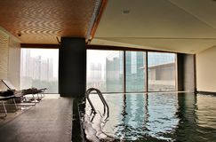 The indoor pool in the hotel EAST Beijing Royalty Free Stock Image
