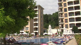 Indoor pool in the resort of Golden Sands, Bulgaria. Varna - the sea capital of Bulgaria, a center of shipping and tourism. Today it is the third largest and stock footage