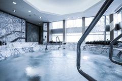 Indoor pool with sauna Stock Photography