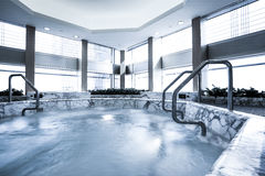 Indoor pool with sauna Royalty Free Stock Images