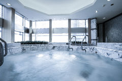 Indoor pool with sauna Stock Images