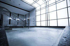 Indoor pool with sauna Royalty Free Stock Photos