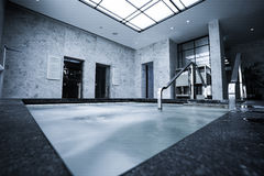 Indoor pool with sauna Royalty Free Stock Photo
