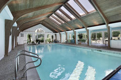Indoor pool with skylights Stock Images