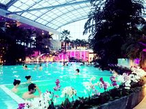 Indoor pool. Therme Spa in Bucharest, Romania stock image