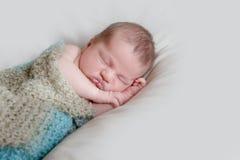 Indoor portrait of adorable newborn baby. Indoor portrait of adorable european newborn baby Stock Image