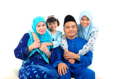 Muslim family. Indoor portrait of muslim family Royalty Free Stock Photo