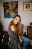 Indoor portrait of teen girl Royalty Free Stock Photo