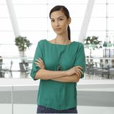 Indoor portrait of young asian woman Royalty Free Stock Photography